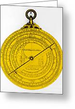 Astrolabe Greeting Card by Omikron