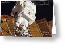 Astronaut Installs Stabilizers Greeting Card by Stocktrek Images
