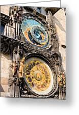 Astronomical Clock In Prague Greeting Card by Artur Bogacki