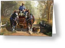 At Durdidwarrah Crossing Greeting Card by Trudi Simmonds