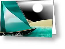 At Sea Greeting Card by Linda Seacord
