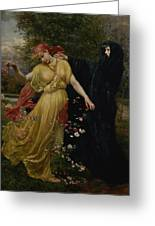At The First Touch Of Winter Summer Fades Away Greeting Card by Valentine Cameron Prinsep