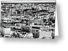 Athens Cityscape I Greeting Card by John Rizzuto