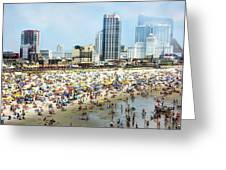 Atlantic City Beach Greeting Card by John Loreaux