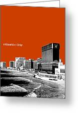 Atlantic City Nj New Jersey - Pop Art - Copper Red Greeting Card by Bao Studio