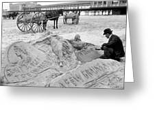 Atlantic City: The Sandman Greeting Card by Granger