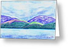 Atlantic Mountains Greeting Card by Taruna Rettinger