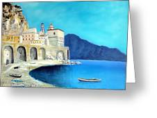 Atrani Italy Greeting Card by Larry Cirigliano