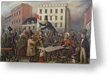 Auction In Chatam Street Greeting Card by E Didier