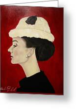 Audrey Hepburn Greeting Card by Michael Kulick