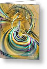 Aurora Of Yellowness Greeting Card by Sipo Liimatainen