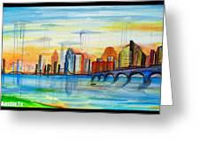 Austin Texas Greeting Card by Jose J Montee Montejano