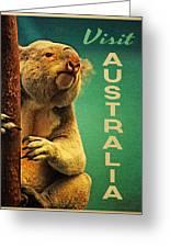 Australia Koala Greeting Card by Flo Karp