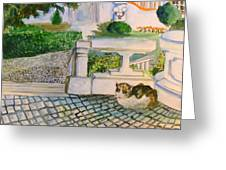 Austrian Cat Greeting Card by Mindy Newman