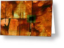Autumn Abstracton Greeting Card by Ann Powell