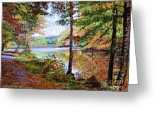 Autumn At Rockefeller Park  Greeting Card by David Lloyd Glover