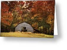Autumn Barn Greeting Card by Jai Johnson