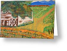Autumn Barn Greeting Card by Kathleen Fitzpatrick