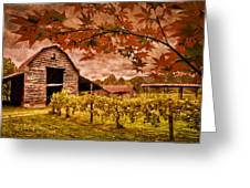 Autumn Cabernet Greeting Card by Debra and Dave Vanderlaan