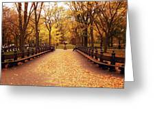 Autumn - Central Park - New York City Greeting Card by Vivienne Gucwa