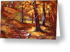 Autumn Color Palette Greeting Card by David Lloyd Glover