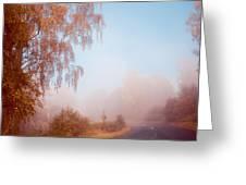 Autumn Fairytale. Misty Roads Of Scotland  Greeting Card by Jenny Rainbow
