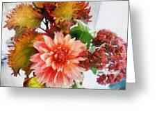 Autumn Joy Greeting Card by Michelle Calkins