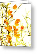Autumn Leaves Abstract Greeting Card by Andee Design