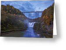 Autumn Morning At Upper Falls Greeting Card by Rick Berk