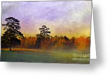 Autumn Morning Mist Greeting Card by Judi Bagwell