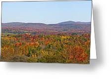 Autumn Panorama Brome Quebec Canada Greeting Card by David Chapman