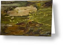 Autumn Pond Greeting Card by Olga Zamora