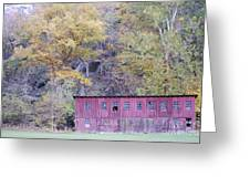 Autumn Poultry Barn Greeting Card by Randy Bodkins