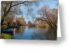 Autumn Scene On The River Greeting Card by Konstantin Gushcha