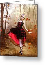 Autumn Waltz Greeting Card by Karen H