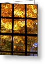 Autumn Window 2 Greeting Card by Joann Vitali