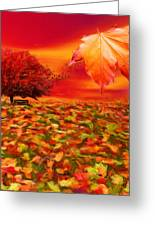 Autumnal Scene Greeting Card by Lourry Legarde