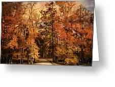 Autumn's Entrance Greeting Card by Jai Johnson