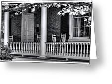 Avenel Porch - Bedford - Virginia Greeting Card by Steve Hurt