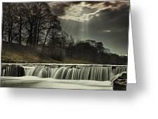 Aysgarth Falls Yorkshire England Greeting Card by John Short
