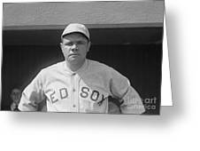 Babe Ruth 1919 Greeting Card by Padre Art