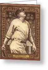 Babe Ruth The Bambino  Greeting Card by Ray Tapajna