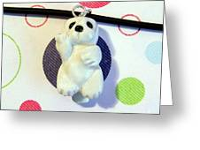 Baby Harbor Seal Endangered Animini Necklace Greeting Card by Pet Serrano