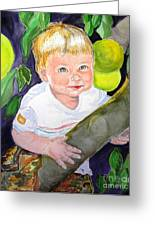 Baby In The Tree Greeting Card by Susan  Clark