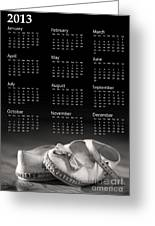 Baby Shoes Calendar 2013 Greeting Card by Jane Rix