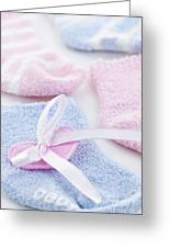 Baby Socks  Greeting Card by Elena Elisseeva