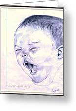 Baby-yawning Greeting Card by Poornima M