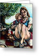 Baby's First Picnic Greeting Card by Shana Rowe Jackson