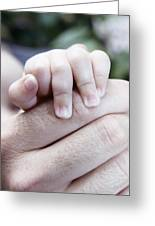 Baby's Hand Greeting Card by Cristina Pedrazzini