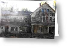 Back Of 1860's Mansion Greeting Card by Kristie  Bonnewell